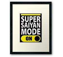 Super Saiyan Mode On Framed Print
