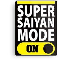 Super Saiyan Mode On Metal Print