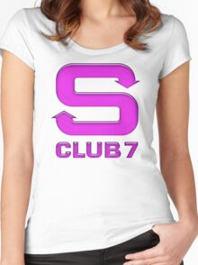 S Club 7 Women's Fitted Scoop T-Shirt