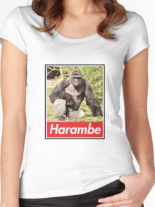 Harambe Women's Fitted Scoop T-Shirt