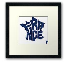France Blue Framed Print