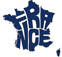 France Blue Photographic Print