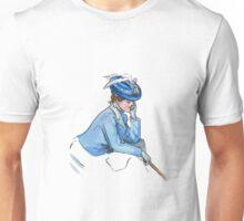 Art Nouveau Lady Blue Unisex T-Shirt
