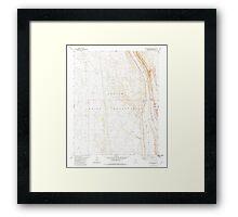USGS TOPO Map Arizona AZ Willow Springs 314133 1981 24000 Framed Print