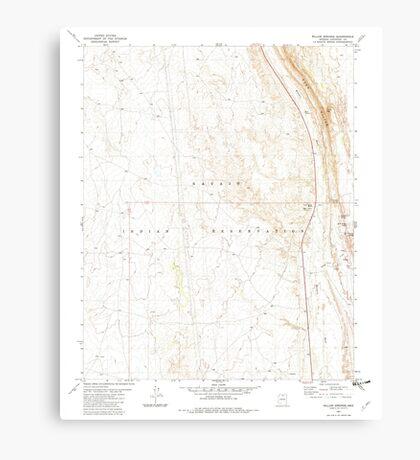 USGS TOPO Map Arizona AZ Willow Springs 314133 1981 24000 Canvas Print
