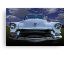 55 Cadillac Down Inna Meadow Up In Kerrville Canvas Print