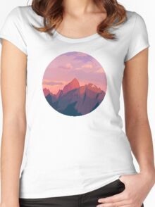 Sunrise Mountain Women's Fitted Scoop T-Shirt