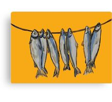 Dried fish for beer lovers Canvas Print