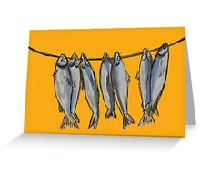 Dried fish for beer lovers Greeting Card