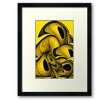Squeezed In Framed Print