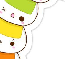 Rainbow Onigiri Sticker Sticker