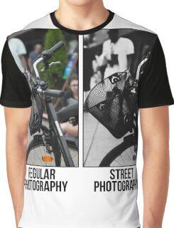 Regular Photography Vs Street Photography Graphic T-Shirt