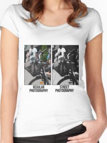 Regular Photography Vs Street Photography Women's Fitted Scoop T-Shirt