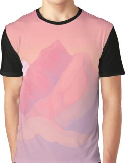 Peach Sunrise Graphic T-Shirt