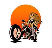 Lion, Cat, Biker - Motorcycles, Motorcycle Gear, Bikes Photographic Print
