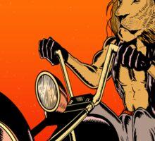 Lion, Cat, Biker - Motorcycles, Motorcycle Gear, Bikes Sticker
