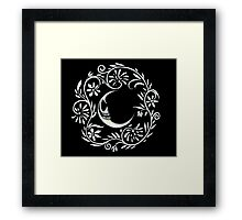 Malevolent Moon Flower Wreath   Framed Print