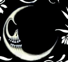 Malevolent Moon Flower Wreath   Sticker