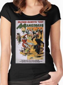 Performing Arts Posters Oliver Scotts Refined Negro Minstrels a happy lot of funny coons in myriad acts entrancing new jokes and gags by black buffoons the best of songs and dancing 1996 Women's Fitted Scoop T-Shirt