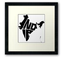 India Black Framed Print