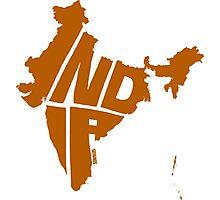 India Orange Photographic Print