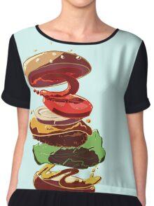 Burger Stack  Chiffon Top