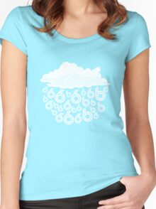rain in the six Women's Fitted Scoop T-Shirt