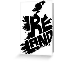 Ireland Black Greeting Card