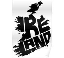 Ireland Black Poster