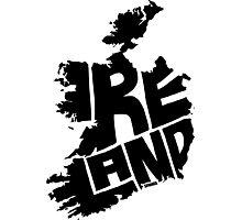 Ireland Black Photographic Print