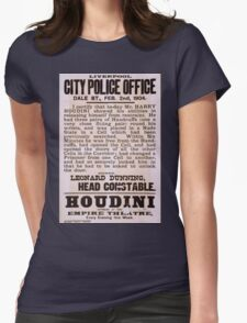 Performing Arts Posters Houdini appears at the Empire Theatre every evening this week 2040 Womens Fitted T-Shirt