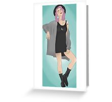 Tonks Blue Background Greeting Card