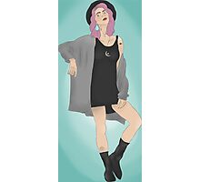 Tonks Blue Background Photographic Print