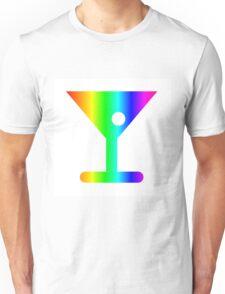 Rainbow Martini Unisex T-Shirt