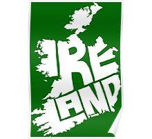 Ireland White Poster