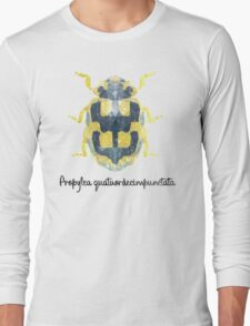 Propylea quatuordecimpunctata - Low Poly Long Sleeve T-Shirt