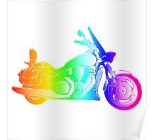 Rainbow Motorcycle Poster