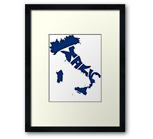 Italy Blue Framed Print