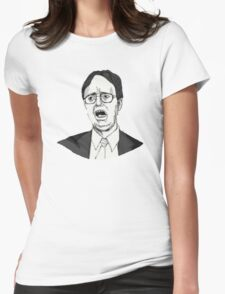 Dwight Schrute Sketch Womens Fitted T-Shirt