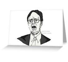 Dwight Schrute Sketch Greeting Card