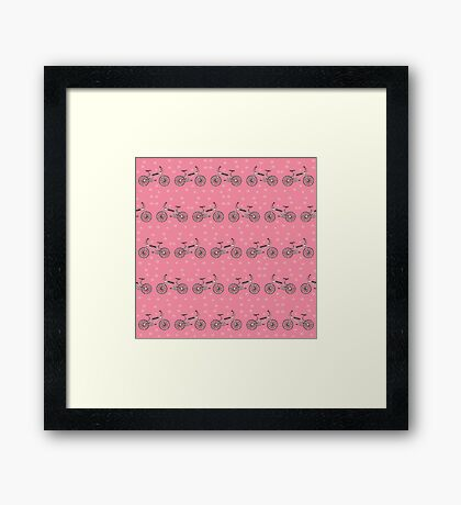 Bicycles pattern Framed Print