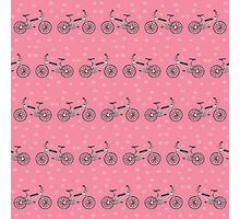 Bicycles pattern Photographic Print