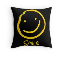 Smile if You're Bored Throw Pillow