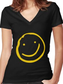 Smile if You're Bored Women's Fitted V-Neck T-Shirt