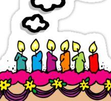i wish i was a pie cake cartoon Sticker