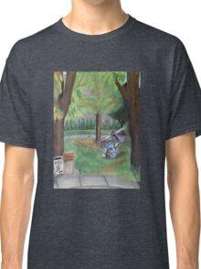 Landscape with Robot Classic T-Shirt