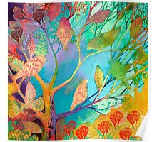 Forest Leaves Poster