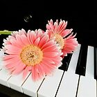 My two loves - piano and flowers! by Rosemary Sobiera