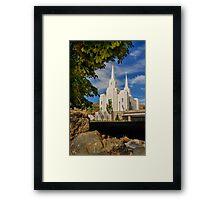 Brigham City LDS Temple Framed Print