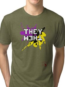 They Them - NonBinary Colors Tri-blend T-Shirt